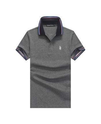Однотонная футболка поло 18156