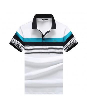 Мужская футболка с двухцветной полосой 18016