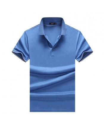 Мужская однотонная футболка 18020
