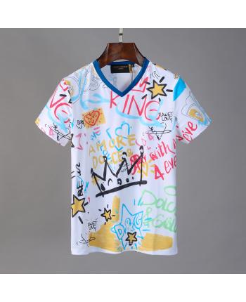 Мужская футболка с цветным принтом 18521