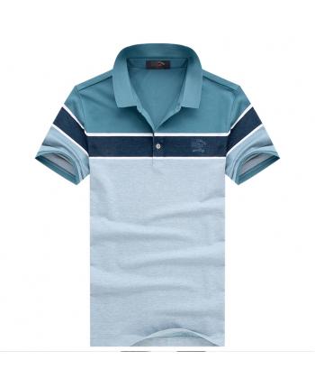 Трехцветная футболка поло 18353