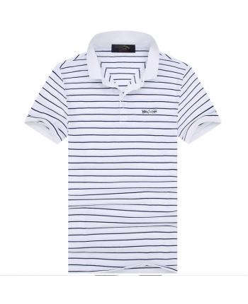 Полосатая футболка поло 18357