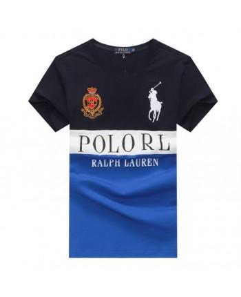 Двухцветная футболка с принтом 18158