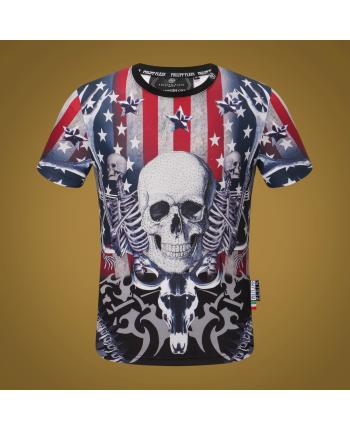 Мужская футболка с цветным принтом 18510