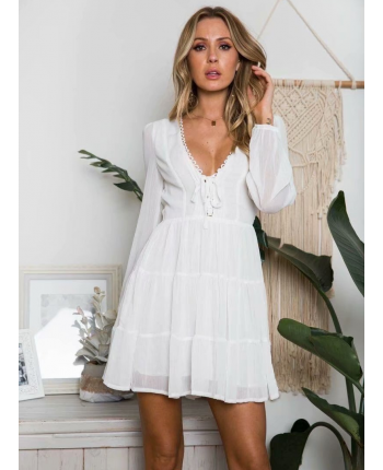 Шифоновое платье с оборками 18112