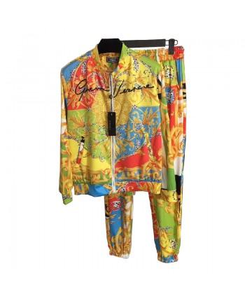Яркий цветной спортивный костюм 19322