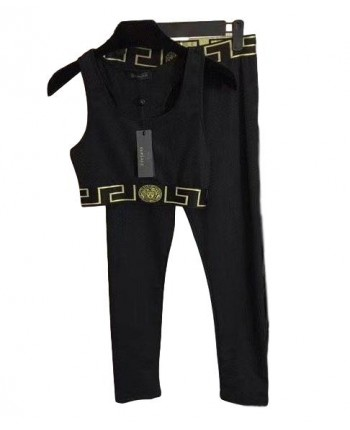 Черный костюм для фитнеса 19350