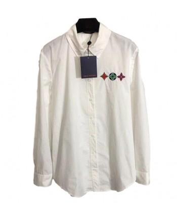 Белая блуза с вышивкой 19390