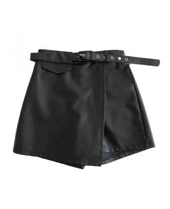 Юбка-шорты из эко-кожи 19475