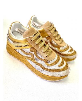 Золотистые кроссовки Plein 19483