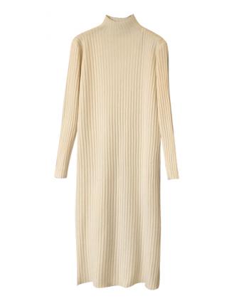 Трикотажное платье-гольф 19579
