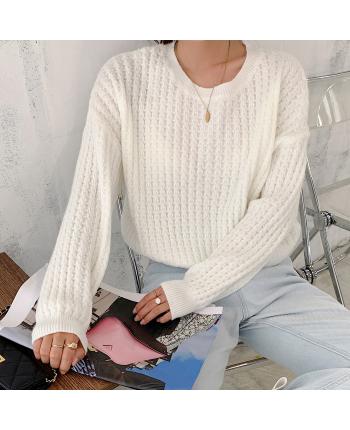 Легкий вязаный свитер 19738