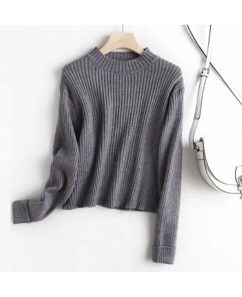 Базовый серый свитер 19774