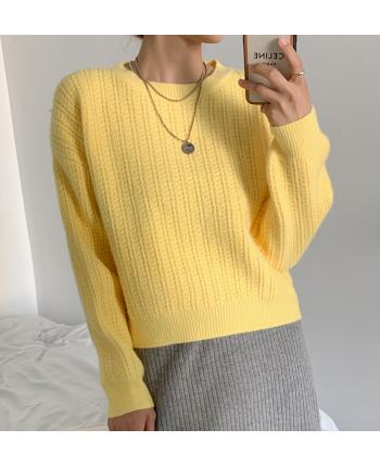 Вязаный свитер в расцветках 19834