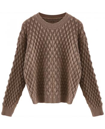 Тонкий вязаный свитер 19850