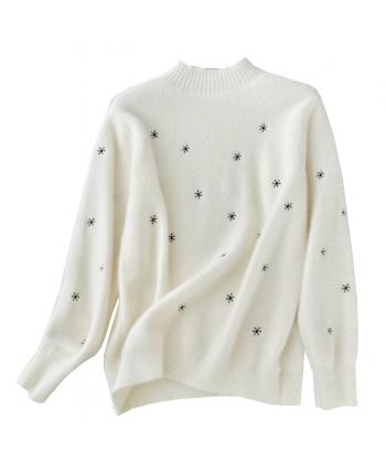 Мягкий свитер со снежинками 19905