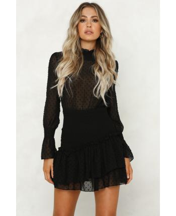 Платье с длинным рукавом 17140