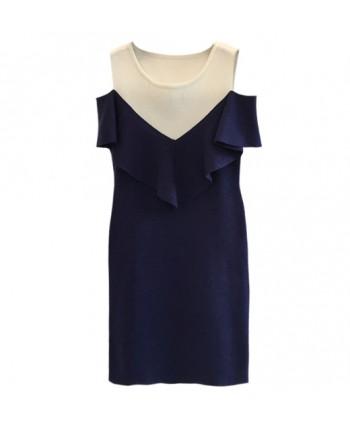 Трикотажное платье с воланом 16309