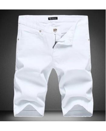 Белые джинсовые шорты Versace