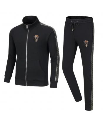 Черный мужской спортивный костюм 19451