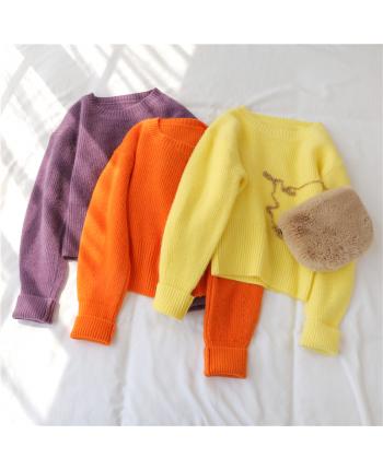 Яркие укороченные свитера 17428