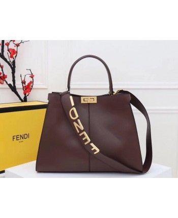 Кожаная сумка Фенди 17838