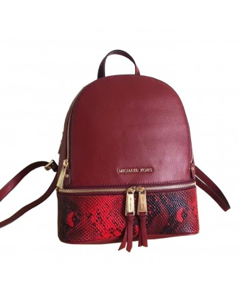 Кожаный рюкзак с фирменной надписью 19436