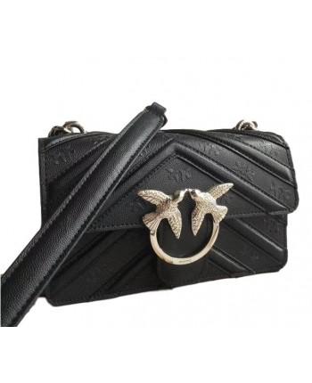 Черная кожаная сумка 19439