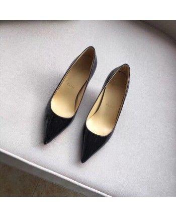 Чорні лаковані туфлі 17926