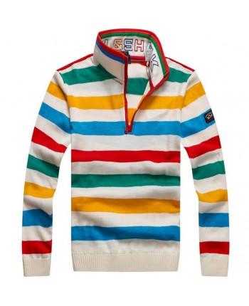 Яркий свитер в полоску Paul&Shark 15461