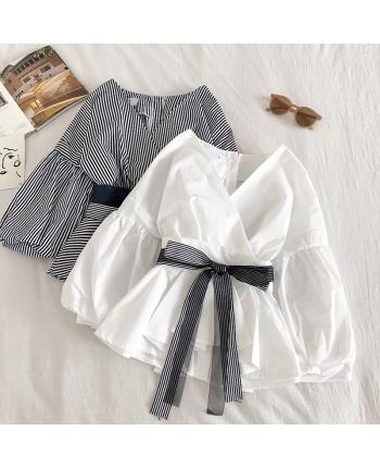 Блуза с поясом 18454